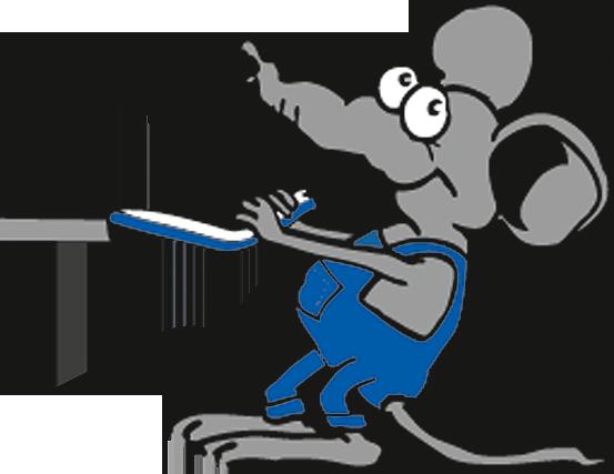 Pütz Maus. Maskottchen der Firma Elektro Pütz in 51147 Köln